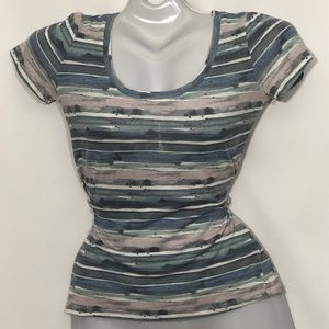 BDG URBAN OUTFITTERS abstract pastel stripes top